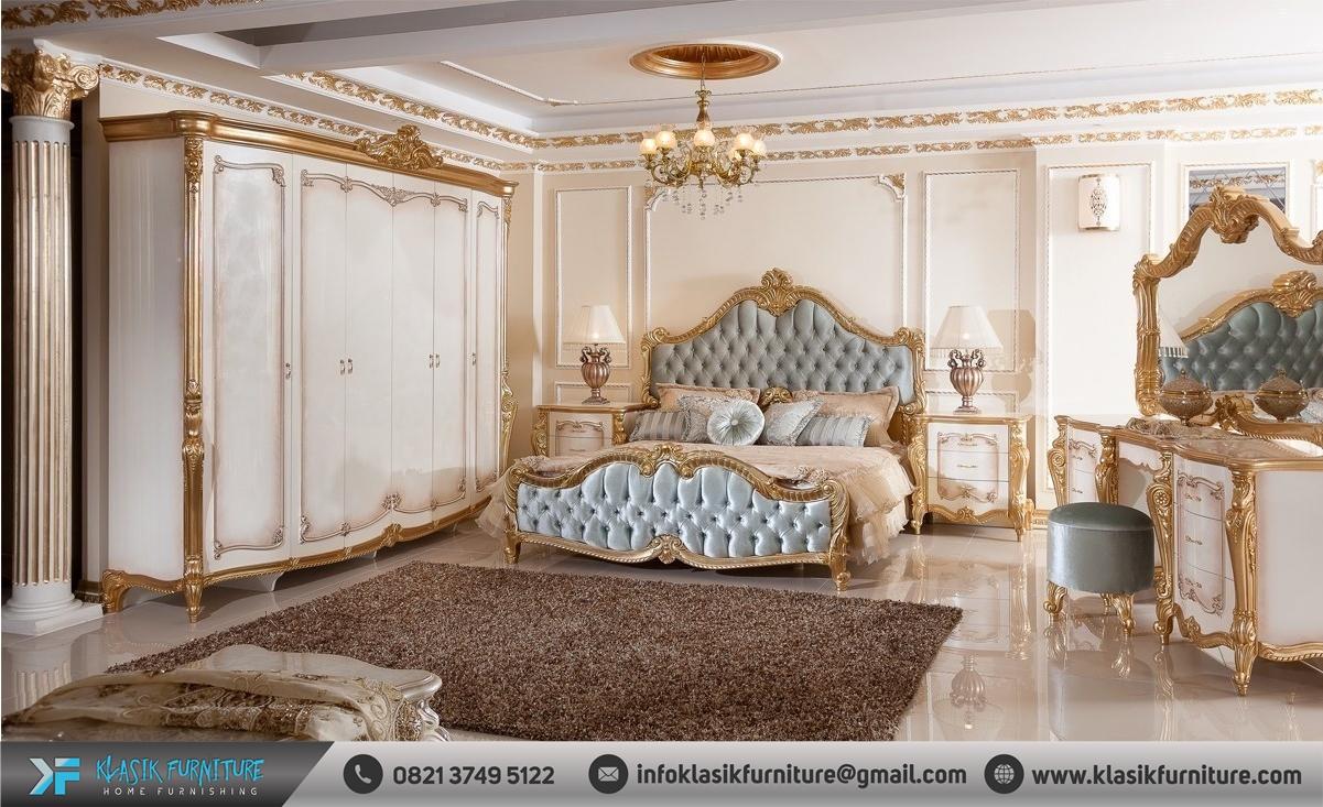 Set Kamar Tidur Pengantin Mewah Klasik