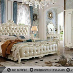 Set Kamar Tidur Mewah Klasik Modern Putih
