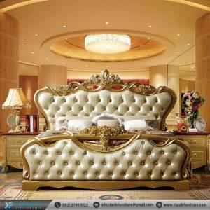 Set Tempat Tidur Mewah Gold Ukiran Klasik