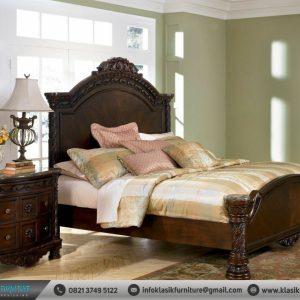 Tempat Tidur Jati Mewah Klasik