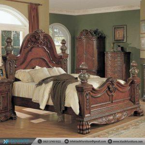 Tempat Tidur Jati Ukir Klasik Mewah Antique