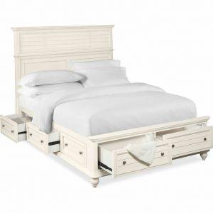 Tempat Tidur Minimalis Putih Berlaci