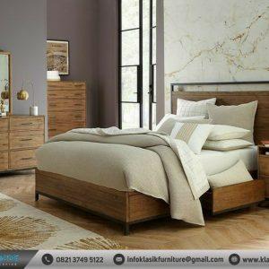 Tempat Tidur Minimalis Konsep Industrial