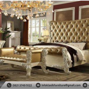 Desain Tempat Tidur Ukir Mewah Klasik Elegan Eropa