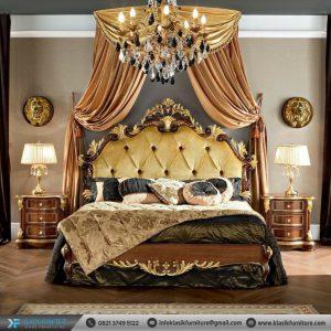 Set Tempat Tidur Ukiran Jati Jepara Klasik Antiq