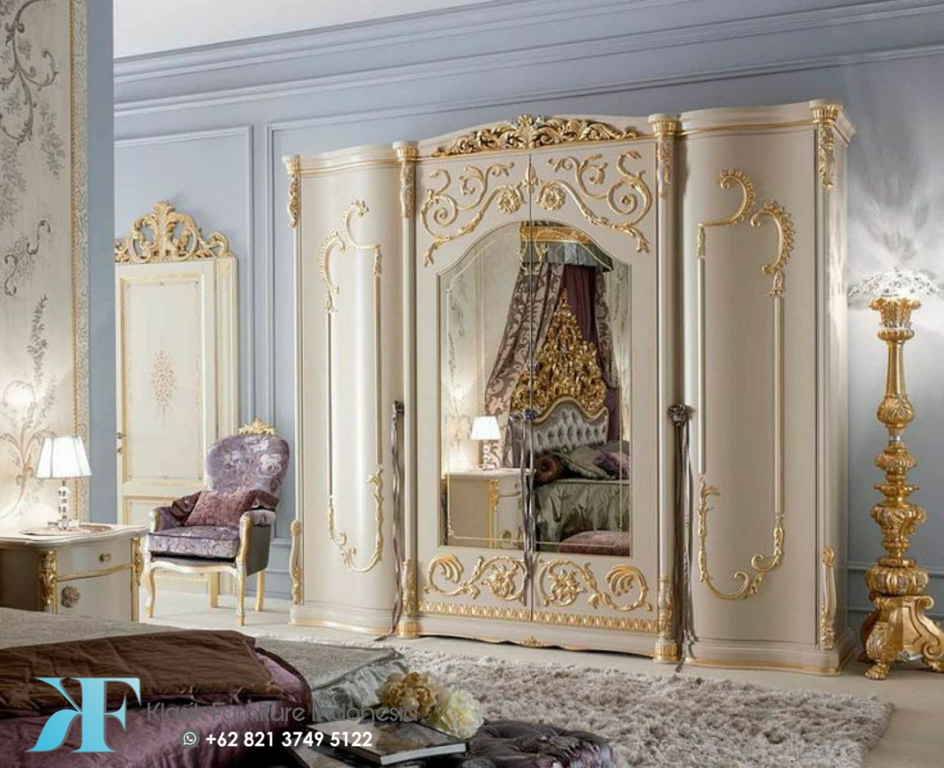 Kamar Set Mewah Ukiran Klasik Gold Fortuna